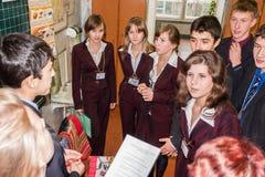 De concurrentie voor de beste teams in de stad van Obninsk, Kaluga-gebied, Rusland Stock Fotografie
