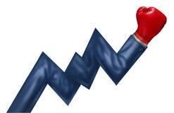 De concurrerende Groei Stock Afbeeldingen