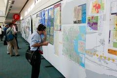 De Conferentie 2010 van de Gebruiker ESRI - het Herzien van de Persoon Kaarten Royalty-vrije Stock Foto's