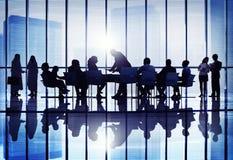 De Conferentie van het bedrijfs vergaderingsseminarie Samenwerking Team Concept stock afbeeldingen