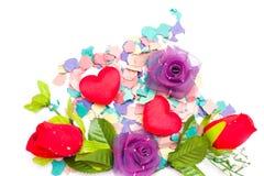 De confettien en namen toe Stock Foto's