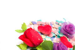 De confettien en namen toe Royalty-vrije Stock Fotografie