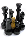 De confrontatie van het schaak Stock Afbeeldingen
