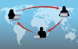 De Connectiviteit van Internet Royalty-vrije Illustratie