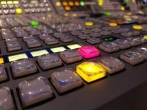 De console van de televisiestudio Royalty-vrije Stock Foto