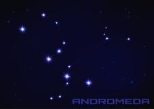 De constellatie van de Andromedaster vector illustratie