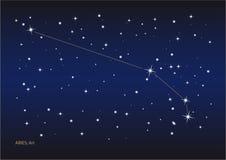 De constellatie van de Ram Stock Afbeeldingen