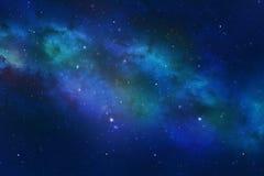 De constellatie van het heelal met de nevel van de sterrenmelkweg Stock Fotografie
