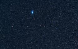 De constellatie van Lyra met Vega stock fotografie