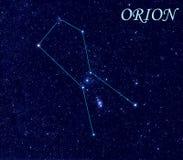 De Constellatie van Orion Royalty-vrije Stock Afbeeldingen