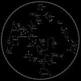 De Constellaties van de ster Stock Afbeeldingen