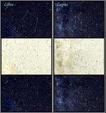 De constellaties van de Weegschaal en van de Wolfszweer Royalty-vrije Stock Foto