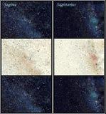 De constellaties van Sagitta en van de Boogschutter vector illustratie