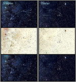 De constellaties van Scorpius en van de Stier Stock Afbeeldingen