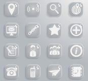 De contacts icônes simplement Photographie stock libre de droits