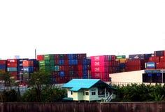 De container stock fotografie
