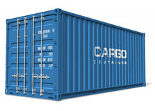 De container van de lading vector illustratie