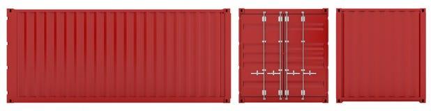 De container van de lading Stock Foto