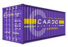 De container van de lading Stock Afbeelding