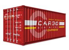De container van de lading Royalty-vrije Stock Afbeeldingen
