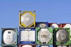 De container van de lading voor levensmiddel stock afbeeldingen