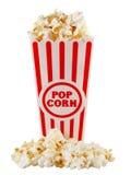 De container van de popcorn royalty-vrije stock afbeeldingen