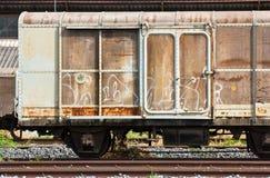 De container van de spoorweg royalty-vrije stock fotografie