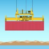 De Container van de vracht vector illustratie