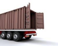 De container van de vracht stock illustratie