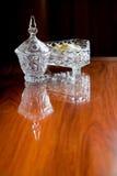 De container van het kristalglas Stock Afbeelding