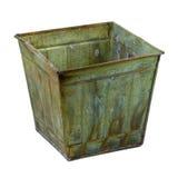 De container van het metaal met een grunge eindigt royalty-vrije stock fotografie