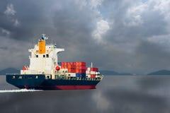 De container van het schipvervoer aan klant Stock Afbeelding