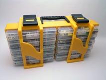 De container van schroeven en van Bouten Stock Afbeeldingen