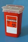 De container van Sharps voor gebruikte naalden Royalty-vrije Stock Foto