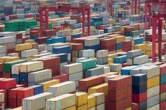 De containerdoos van Shanghai harber Stock Afbeelding