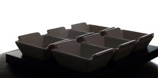 De containers of de ontvangers van de saus Royalty-vrije Stock Afbeeldingen