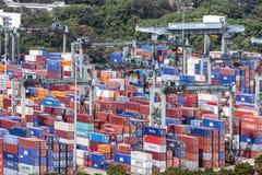 De containers, Singapore Royalty-vrije Stock Foto