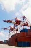 De containers van de kraan & van de lading Royalty-vrije Stock Afbeelding