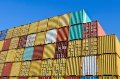De containers van de lading royalty-vrije stock afbeelding