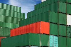 De containers van de lading Royalty-vrije Stock Afbeeldingen