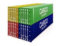 De containers van de lading Stock Afbeelding
