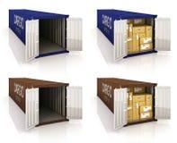 De containers van de lading Royalty-vrije Stock Fotografie