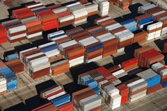 De containers van de lading. Stock Foto