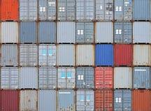 De containers van de lading Royalty-vrije Stock Foto's