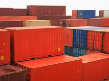 De containers van de lading Royalty-vrije Stock Foto