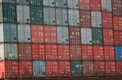 De Containers van de lading stock afbeeldingen