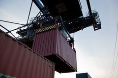 De lading van de container royalty-vrije stock fotografie