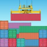 De Containers van de vracht stock illustratie