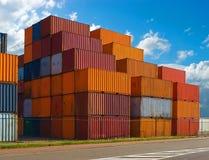 De containers van de vracht Stock Fotografie