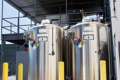De Containers van het aanplakbiljet Royalty-vrije Stock Foto